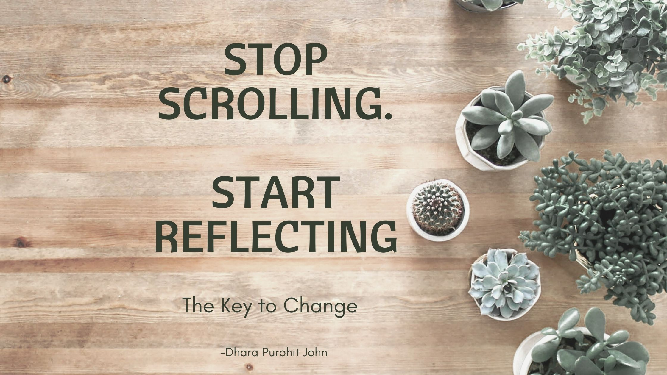 Stop scrolling. Start reflecting.